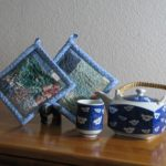 Blue Potholders