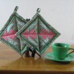 Green Potholders
