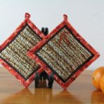 Orange Potholders