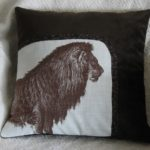 Brown Lion Pillow